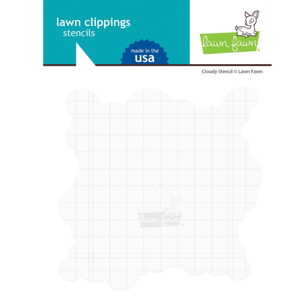 Cloudy Lawn Clippings Stencils