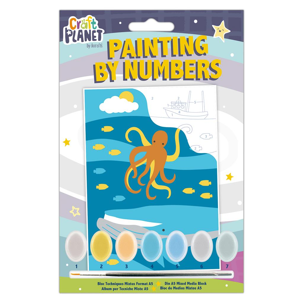 Mini Paint by Numbers Kit: Underwater
