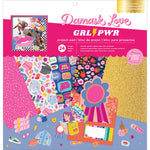 Damask Love Girl Power 12x12 Project Pad