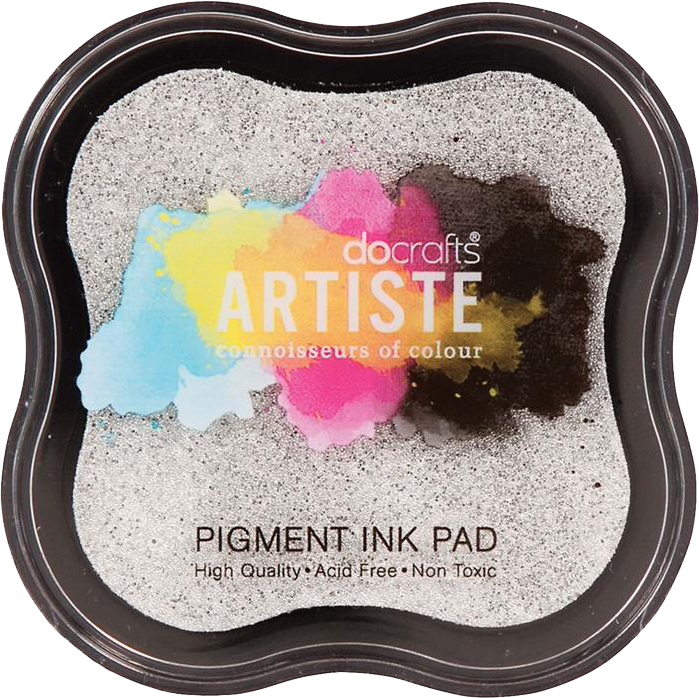 Metallic Silver Pigment Ink Pad