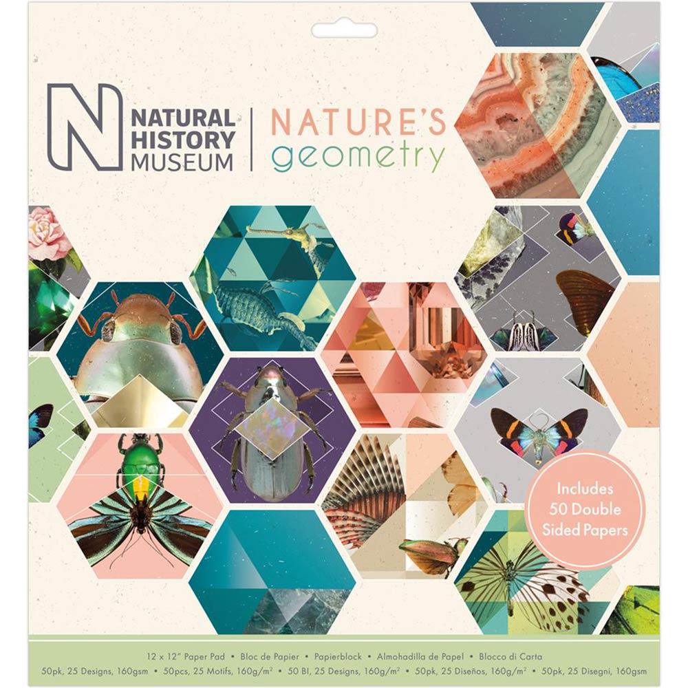 12x12 Paper Pad: Natural History Museum (Nature's Geometry)