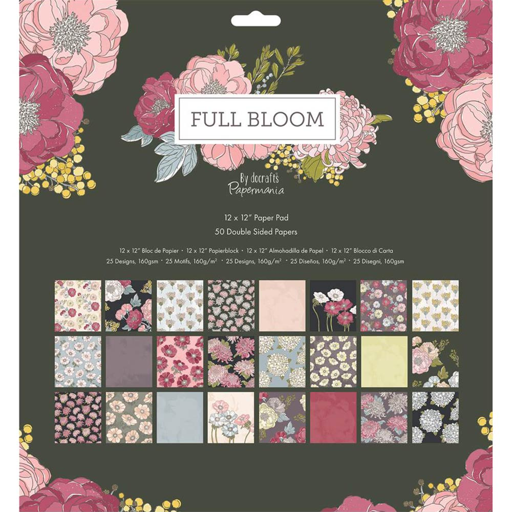 12x12 Paper Pad: Full Bloom