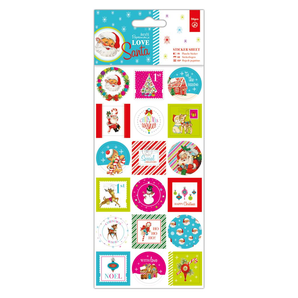 Love Santa Sticker Sheet