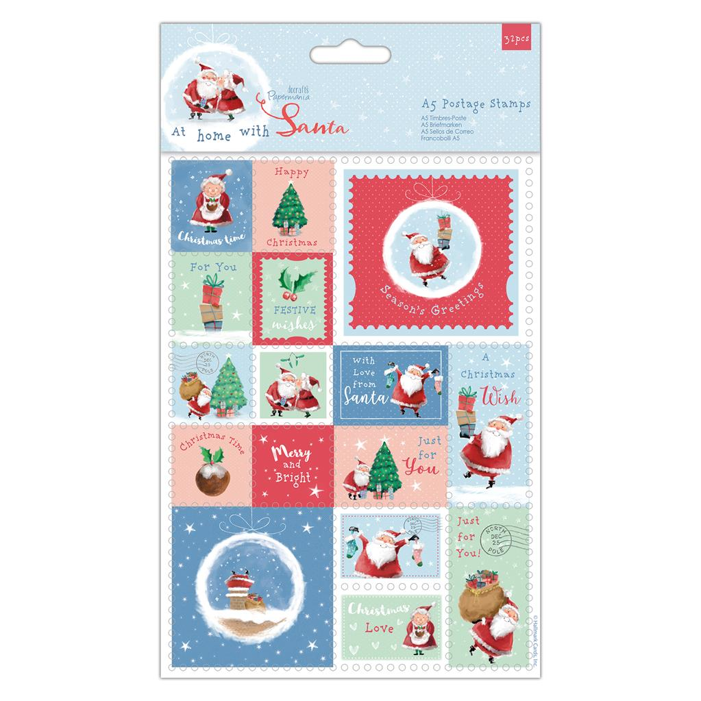 At Home with Santa A5 Postage Stamps