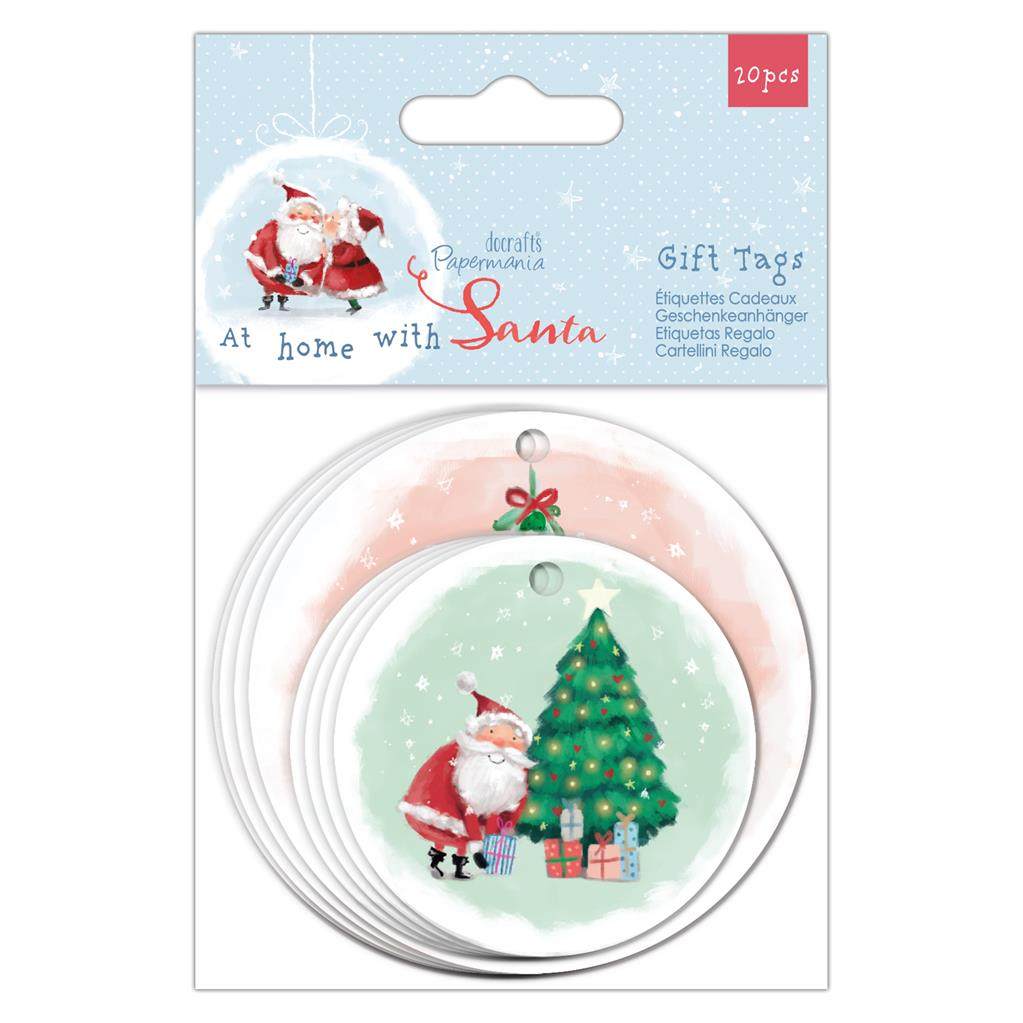 At Home with Santa Gift Tags