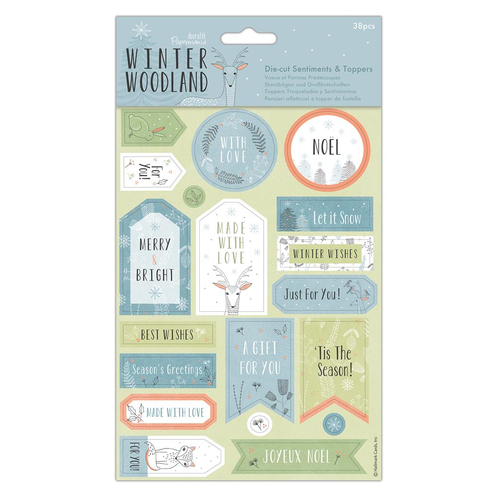 Winter Woodland Die-cut Sentiment Toppers