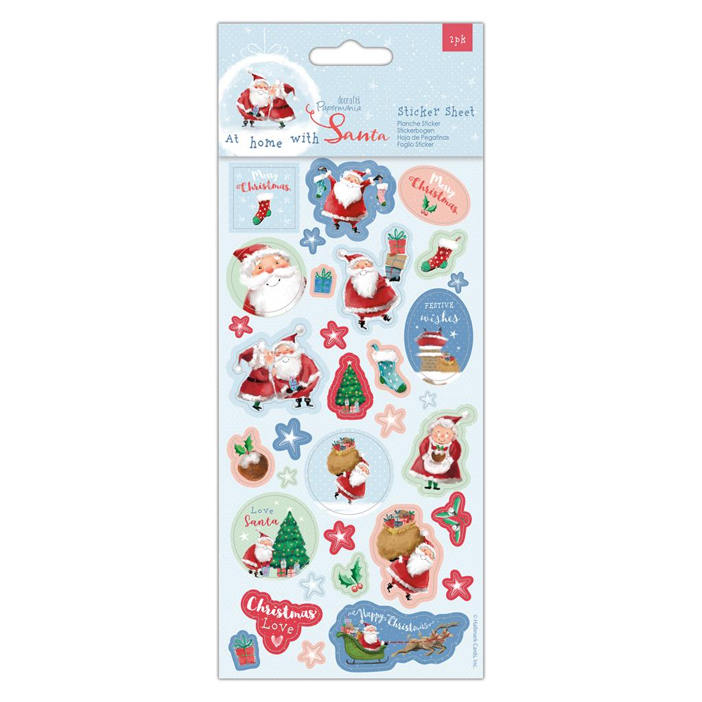 At Home with Santa Sticker Sheet
