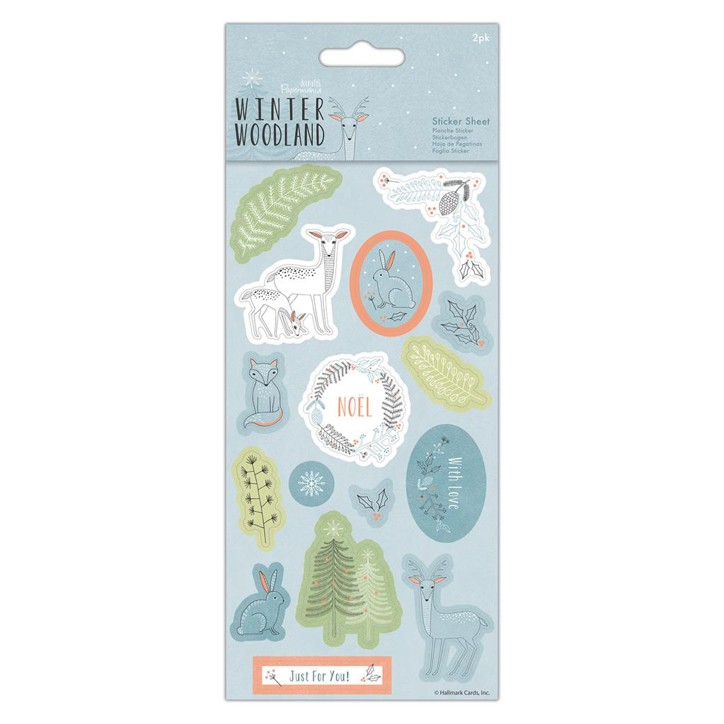 Winter Woodland Sticker Sheet