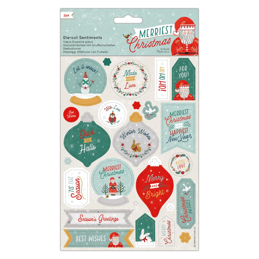 Merriest Christmas Die-cut Sentiment Toppers