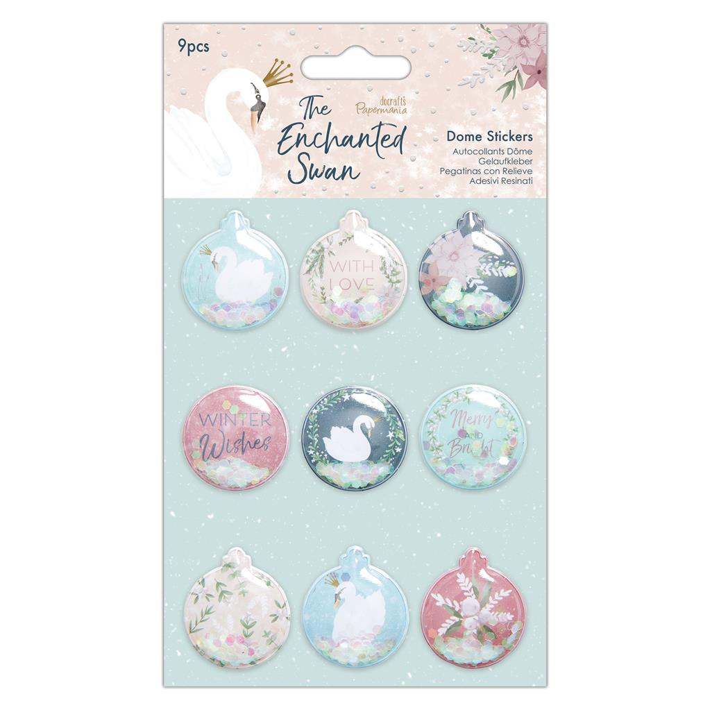 The Enchanted Swan Dome Stickers