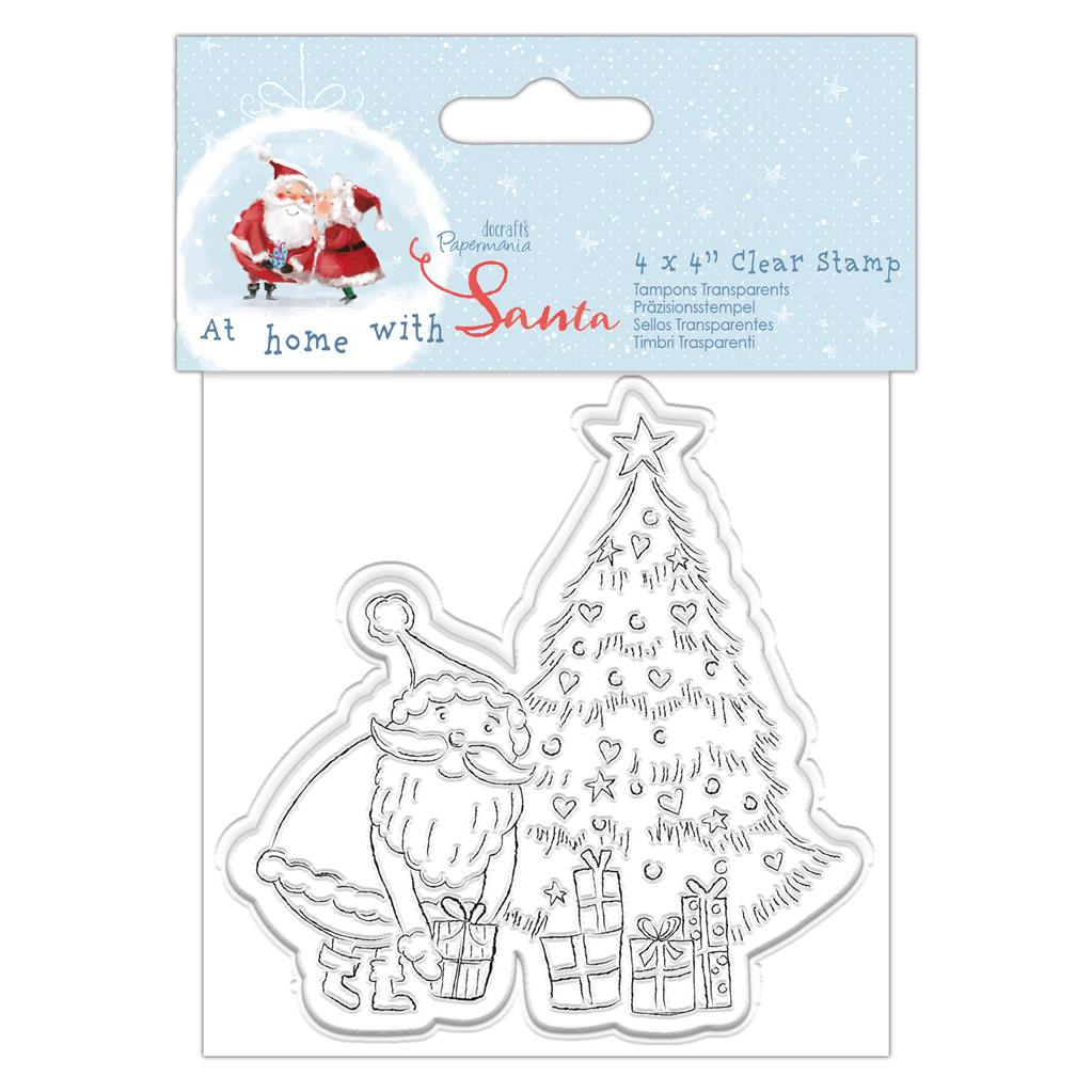 At Home with Santa 4x4 Clear Stamp Set: Tree