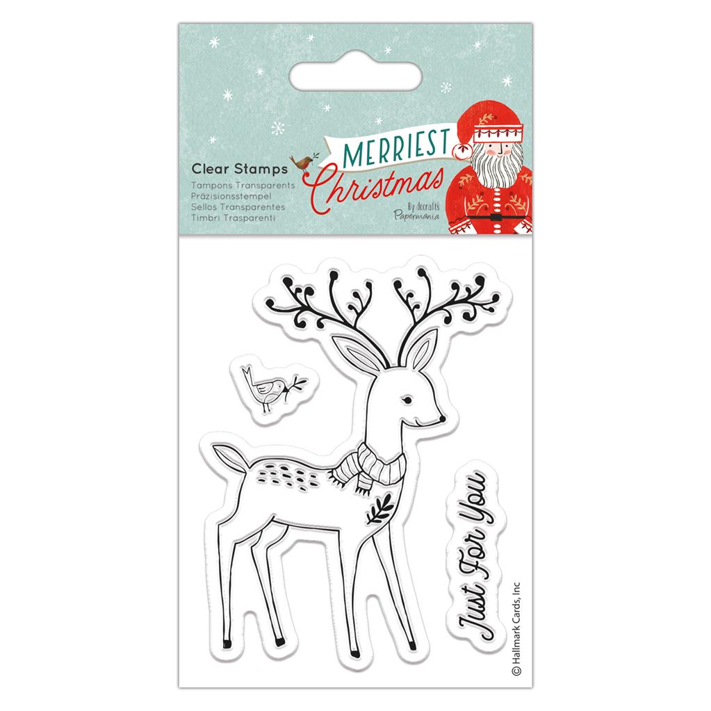 Merriest Christmas Small Clear Stamp Set: Stag