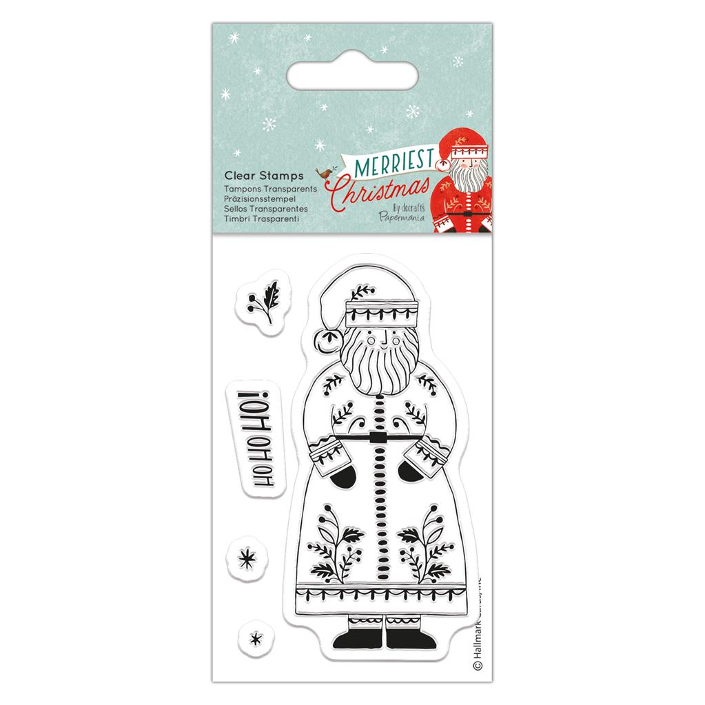 Merriest Christmas Small Clear Stamp Set: Santa