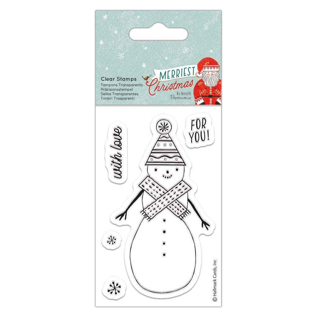 Merriest Christmas Small Clear Stamp Set: Snowman