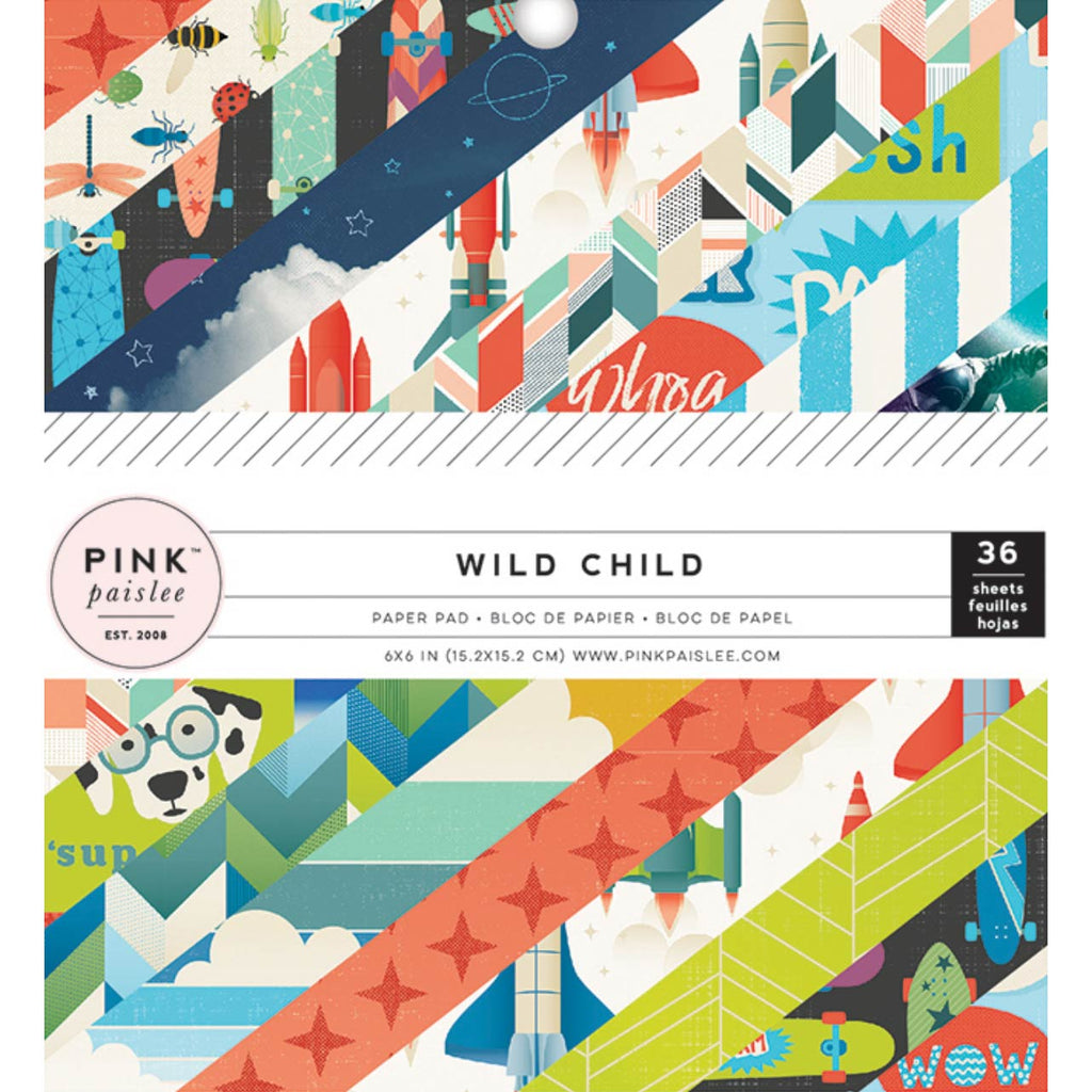 6x6 Paper Pad: Wild Child (Boy)