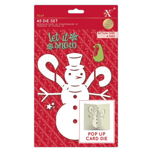 Pop-up Card Snowman A5 Dies