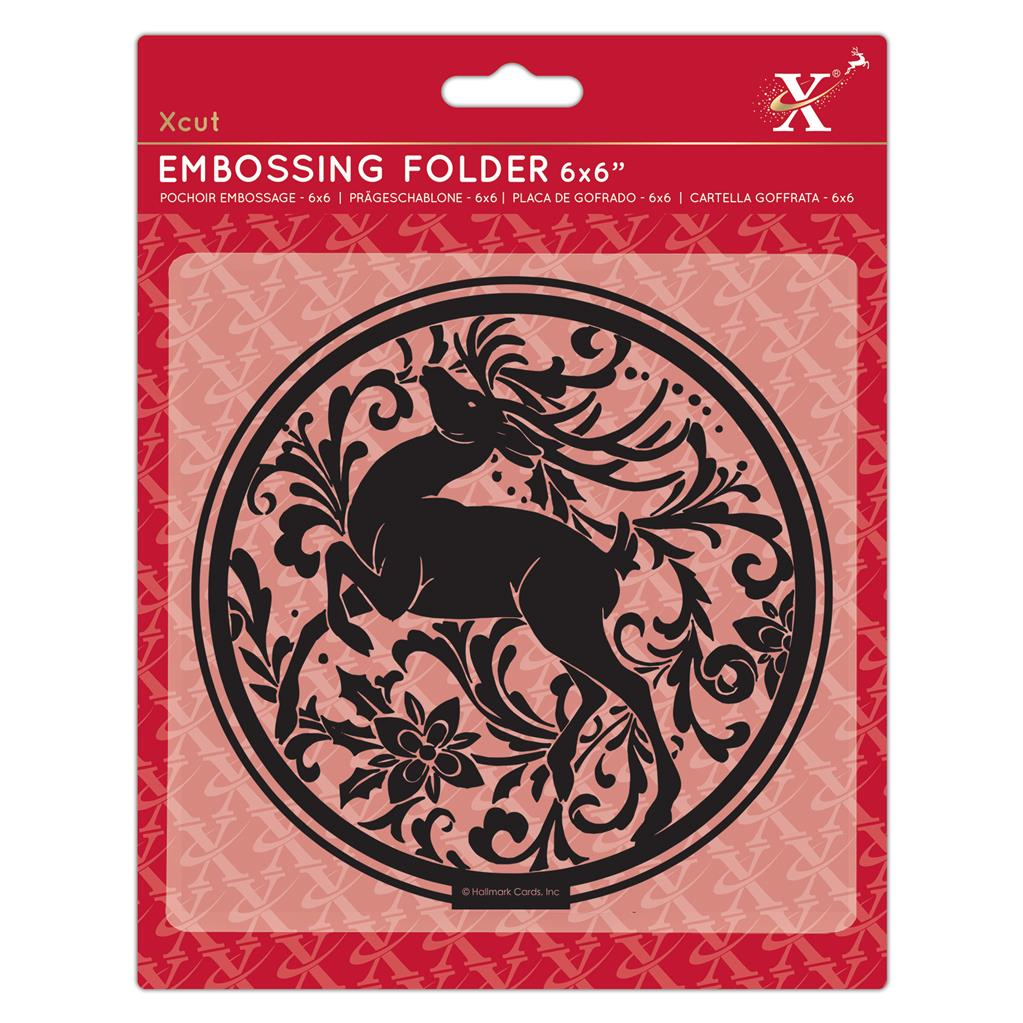 Arts & Crafts Stag 6x6 Embossing Folder