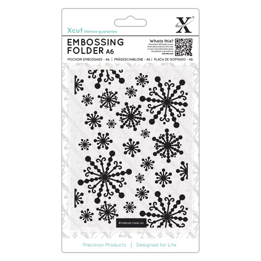 Beautiful Snowflakes A6 Embossing Folder