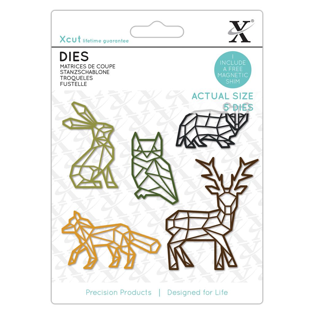 Dies (5PCS): Geometric Woodland Animals