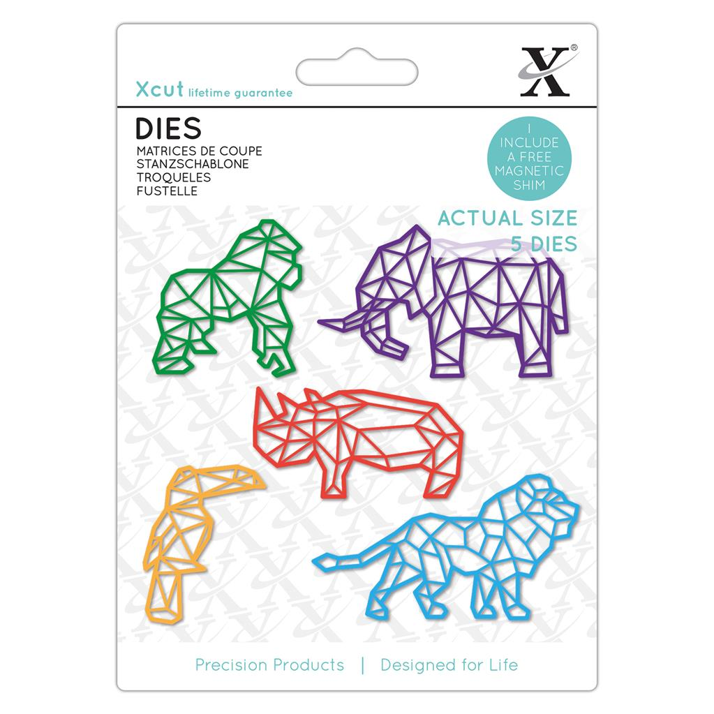 Dies (5PCS): Geometric Tropical Animals
