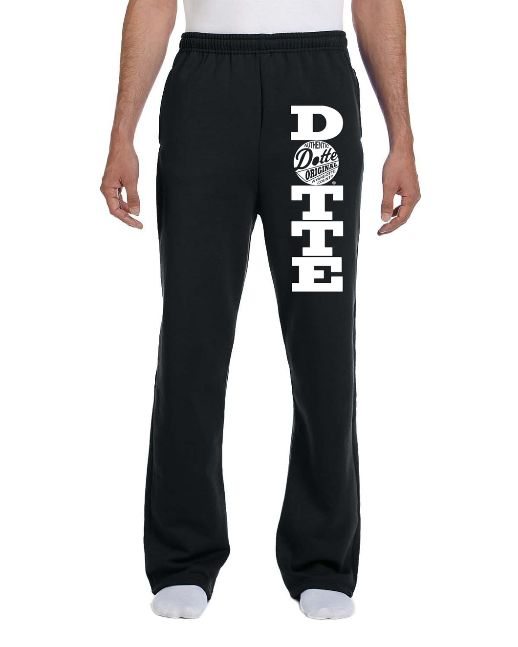 Adult Black Dotte Sweatpants
