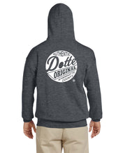 Load image into Gallery viewer, Adult Dark Heather Dotte Hoodie