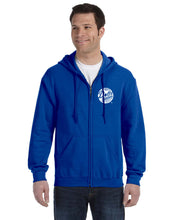 Load image into Gallery viewer, Adult Royal Dotte Zip Hoodie