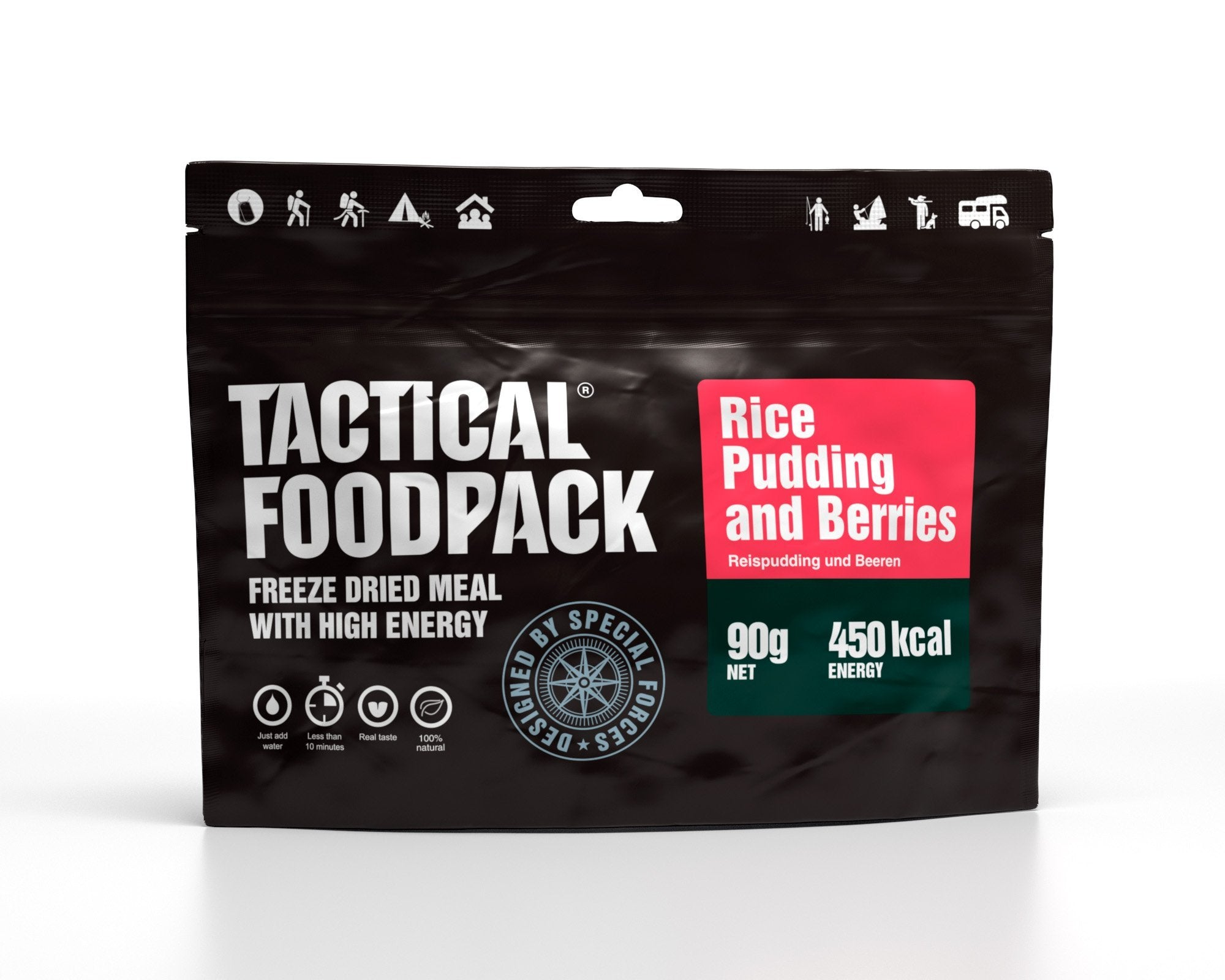 Tactical Foodpack Reispudding mit Beeren