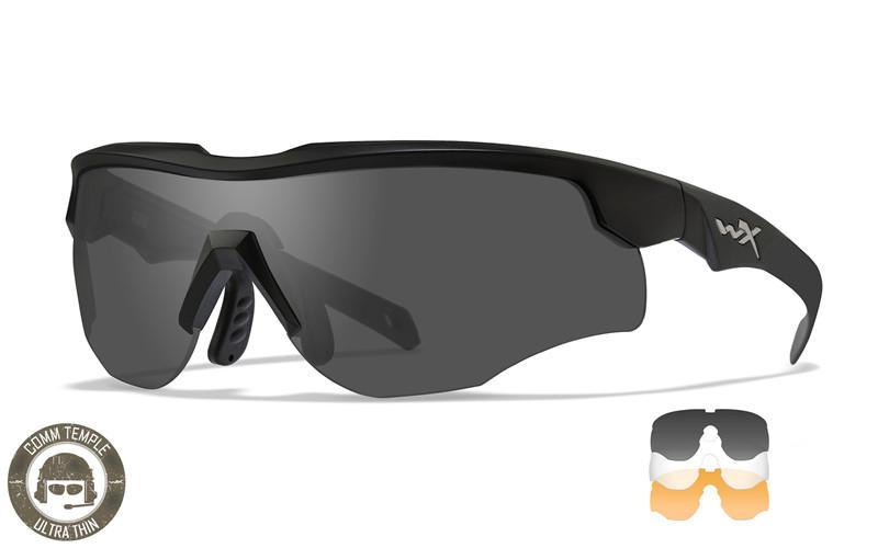 Wiley X Schutzbrille ROGUE COMM Black - Smoke Grey + Clear + Light Rust
