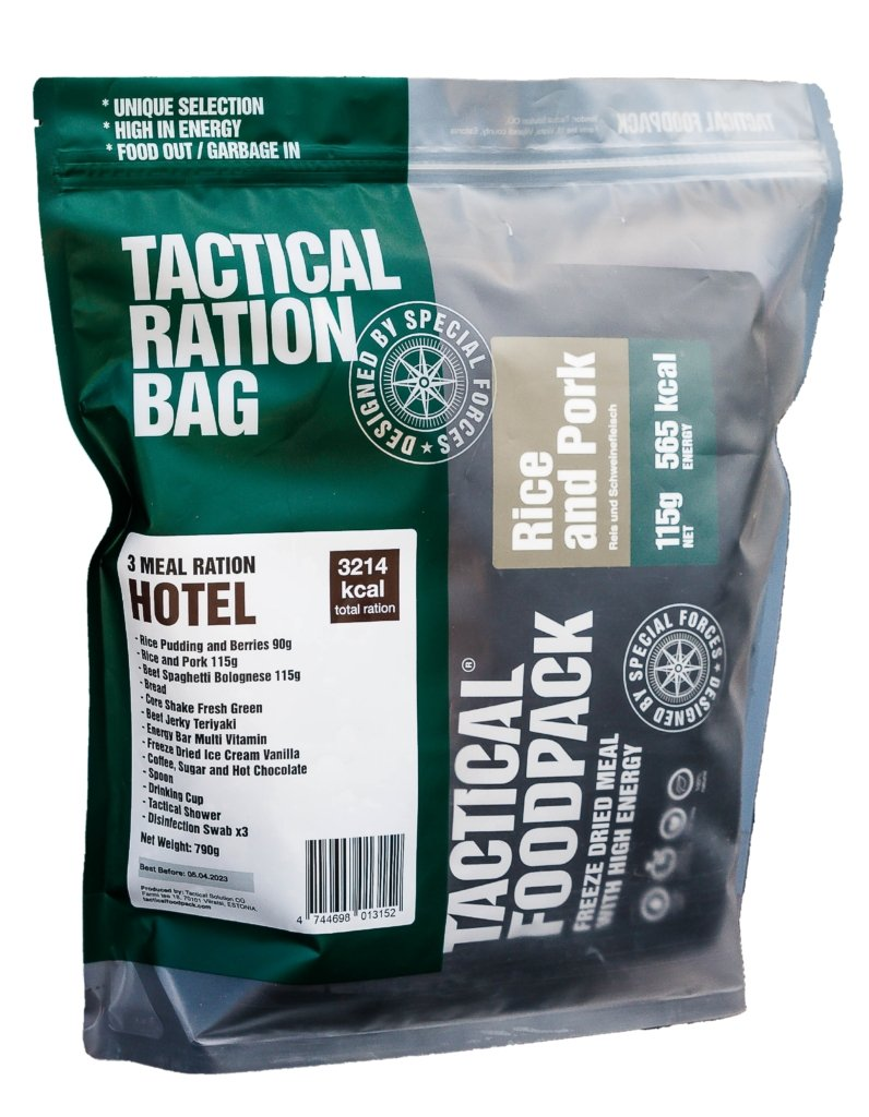 Tactical Foodpack 3x Mahlzeiten Ration HOTEL