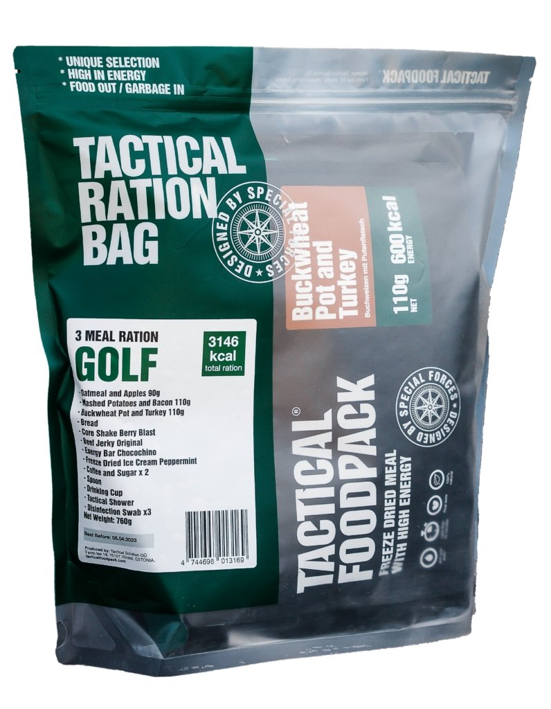 Tactical Foodpack 3x Mahlzeiten Ration GOLF