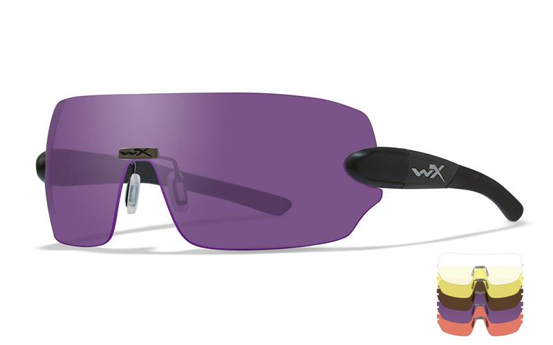 Wiley X Schutzbrille DETECTION Black - Clear + Yellow + Orange + Purple + Copper