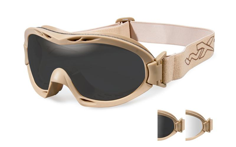 Wiley X Schutzbrille NERVE Tan - Smoke Grey + Clear