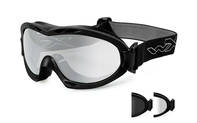 Wiley X Schutzbrille NERVE Black - Smoke Grey + Clear