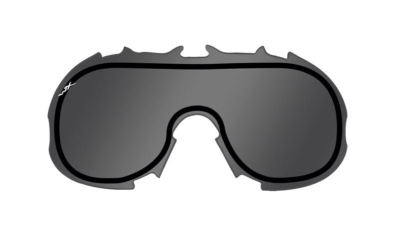 Wiley X Schutzbrille SPEAR Dual Black - Smoke Grey + Clear + Light Rust
