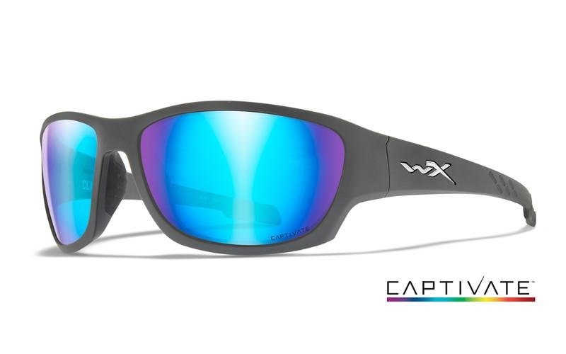 Wiley X Schutzbrille CLIMB Matte Grey - Captivate Blue Mirror