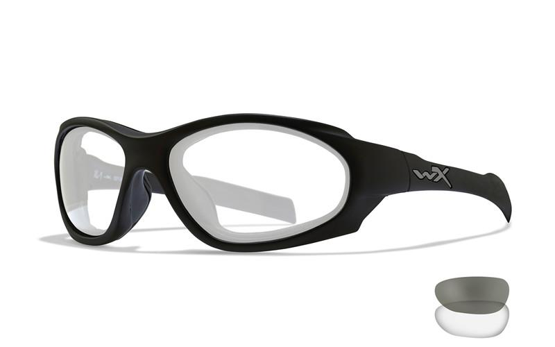 Wiley X Schutzbrille XL-1 AD COMM Matte Black- Smoke Grey + Clear