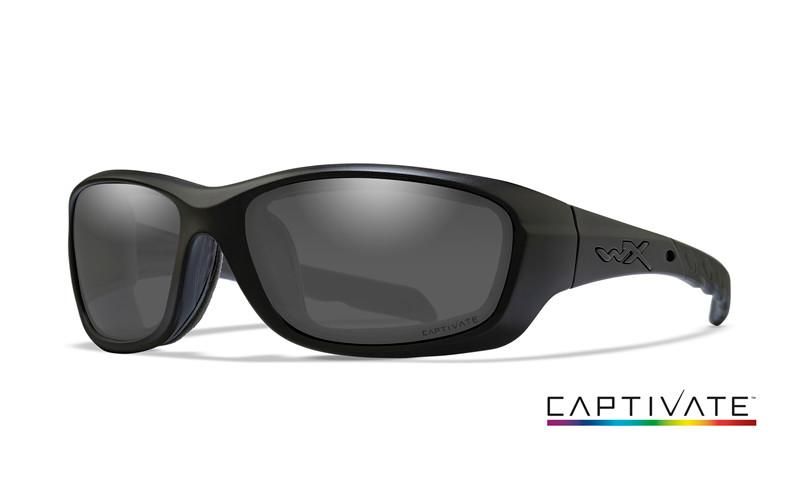 Wiley X Schutzbrille GRAVITY Matte Black - Captivate Smoke Grey