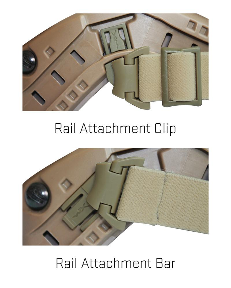 Wiley X SPEAR ARC Rail Attachment System (RAS) Tan