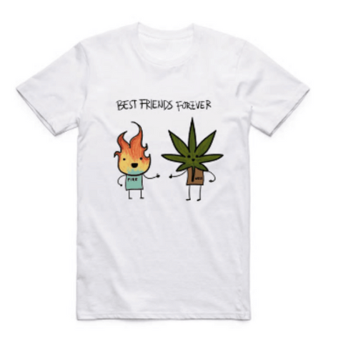T-SHIRT BEST FRIEND WEED - AccessoiresFumeur420                   Meilleur que Amazon