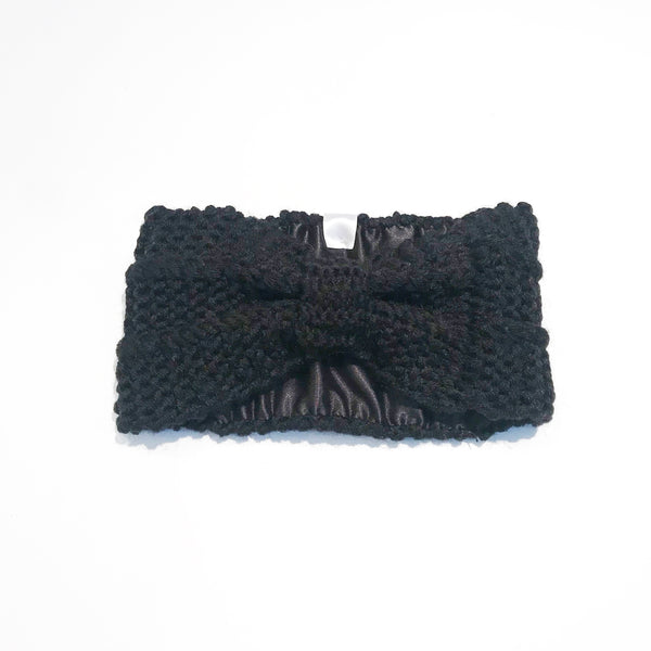 ... Black satin-lined beanie toque hat for fall or winter ... 4c16ec1d4b1d