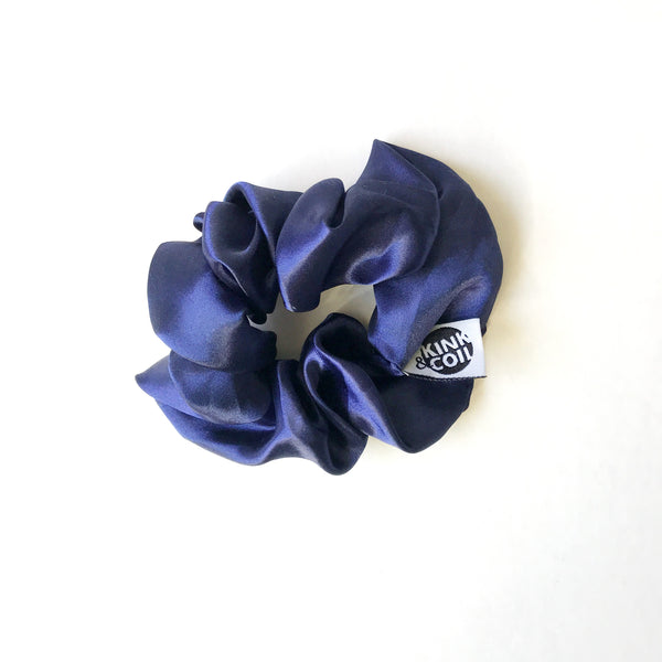 52150e1bcce ... Navy satin-lined beanie toque hat for fall or winter ...