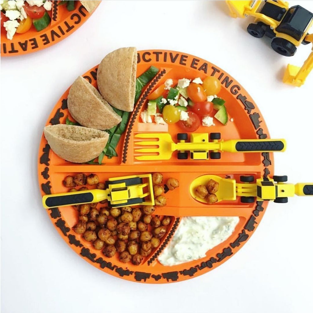 Constructive Eating Set of Construction Utensils New Free Ship