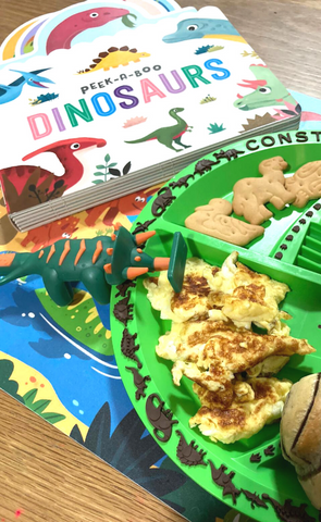 Constructive Eating x Owl Readers Club - Bundle B Peek-a-boo Dinosaurs
