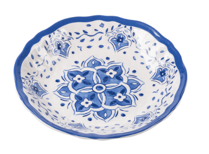 Lg Salad Bowl Blue China