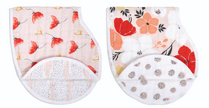 Picked for You Cotton Muslin Burpy Bib 2-Pack
