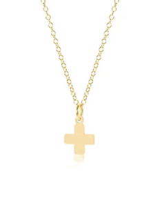 "16"" Necklace Gold - Signature Cross Gold Charm"