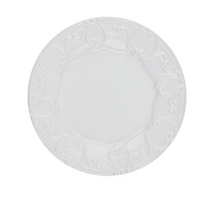 Embossed Salad Isabella Pure White