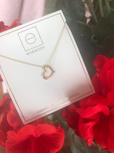 16 Inch Necklace Gold - Love Gold Charm