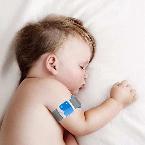Bluetooth 4.0 Remote Children Wearable Electronic Thermometer Smart Body Infant Temperature Monitoring